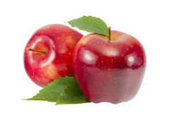 Rode geïsoleerdel appel Stock Afbeeldingen