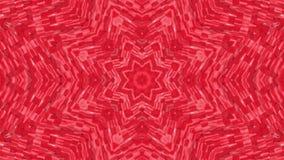 Rode geanimeerde patronen Abstracte caleidoscoop 3d geef terug vector illustratie