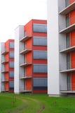 Rode gebouwen Stock Foto's