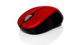 Rode gegevensverwerking aan draadloze muis royalty-vrije stock foto's