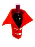 Rode geklede wijn voor Kerstmis, Oudejaarsavond Stock Foto