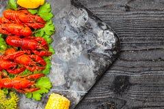 Rode gekookte rivierkreeften Royalty-vrije Stock Fotografie