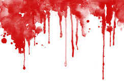 Rode gelaten vallen inkt Royalty-vrije Stock Foto's