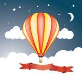 Rode gele ballon Royalty-vrije Stock Foto's