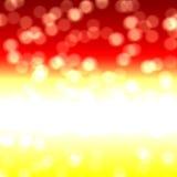 Rode gele bokeh, achtergrond Stock Foto's