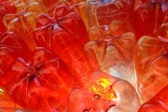 Rode gele duidelijke plast Stock Afbeelding