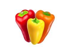Rode, gele en oranje peper Stock Fotografie