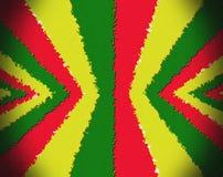 Rode, gele, groene rastavlag Stock Afbeelding