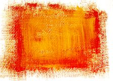 Rode gele grunge geschilderde achtergrond Stock Afbeeldingen