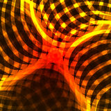 Rode gele lichtgevend glanst abstracte achtergrond Vectorbackgrou Stock Afbeelding