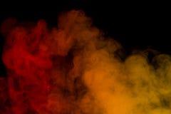 Rode gele waterdamp Stock Fotografie