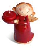 Rode gelukkige engel met het knippen van weg Royalty-vrije Stock Foto's