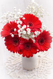 Rode gerberabloemen Royalty-vrije Stock Afbeelding