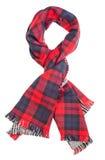 Rode geruit Schots wollen stofsjaal royalty-vrije stock afbeeldingen