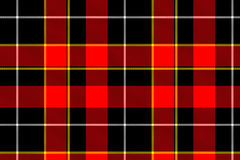 Rode geruite Schotse wollen stoftextuur Stock Foto