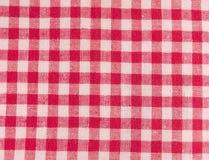 Rode geruite stof Stock Fotografie