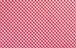 Rode geruite stof Stock Foto's