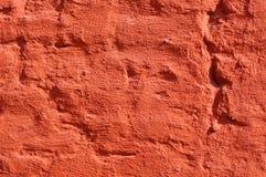 Rode geschilderde bakstenen muur Stock Afbeelding