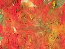 Rode geschilderde samenvatting Royalty-vrije Stock Foto's