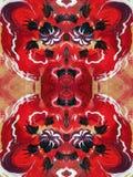 Rode geschilderde samenvatting Royalty-vrije Stock Foto