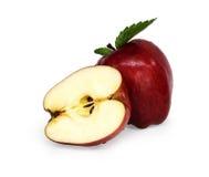 Rode gesneden appel Royalty-vrije Stock Foto's