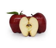 Rode gesneden appel Royalty-vrije Stock Afbeelding