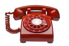Rode geïsoleerdek telefoon, Stock Afbeelding