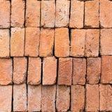 Rode gestapelde bakstenen Stock Afbeelding