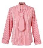 Rode gestreepte blouse Stock Foto