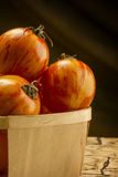Rode gestreepte tomaten Royalty-vrije Stock Afbeeldingen