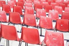 Rode gevoerde stoel Royalty-vrije Stock Afbeelding