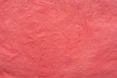 Rode gevouwen papieren zakdoekje bacground textuur Stock Foto