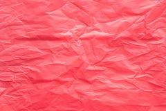 Rode gevouwen papieren zakdoekjetextuur als achtergrond Royalty-vrije Stock Foto