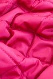 Rode gewatteerde stof Royalty-vrije Stock Afbeeldingen
