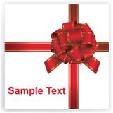 Rode gift, lint, boog Stock Afbeelding