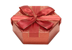 Rode Giftbox Stock Fotografie