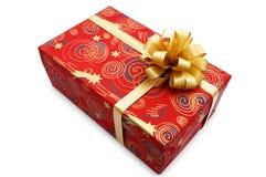 Rode giftdoos royalty-vrije stock afbeelding