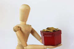 Rode Giftdoos Royalty-vrije Stock Afbeeldingen