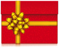 Rode giftdoos met boog Royalty-vrije Stock Afbeelding