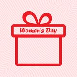 Rode giftdoos voor de Dag van Internationale Vrouwen Vector stock illustratie