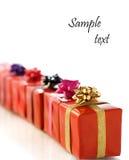 Rode giftdozen Royalty-vrije Stock Afbeeldingen