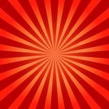 Rode glanzende abstracte zonnestraalachtergrond Vector illustratie Stock Afbeelding