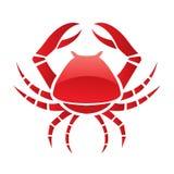 Rode glanzende krab Royalty-vrije Stock Afbeelding