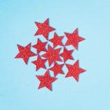 Rode glanzende sterren Stock Foto