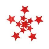 Rode glanzende sterren Royalty-vrije Stock Foto