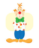 Rode glimlachende clown Stock Foto's