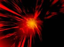 Rode gloed in ruimte Stock Afbeeldingen