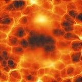 Rode gloeiende lava Stock Afbeelding