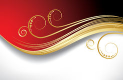 Rode golvenachtergrond Royalty-vrije Stock Afbeeldingen