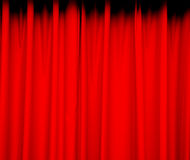 Rode gordijnachtergrond Stock Afbeeldingen